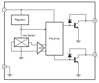 Схема кулера на холлах